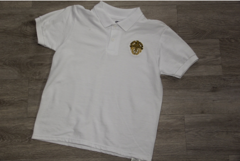 WHITE JERSEY KNIT POLO
