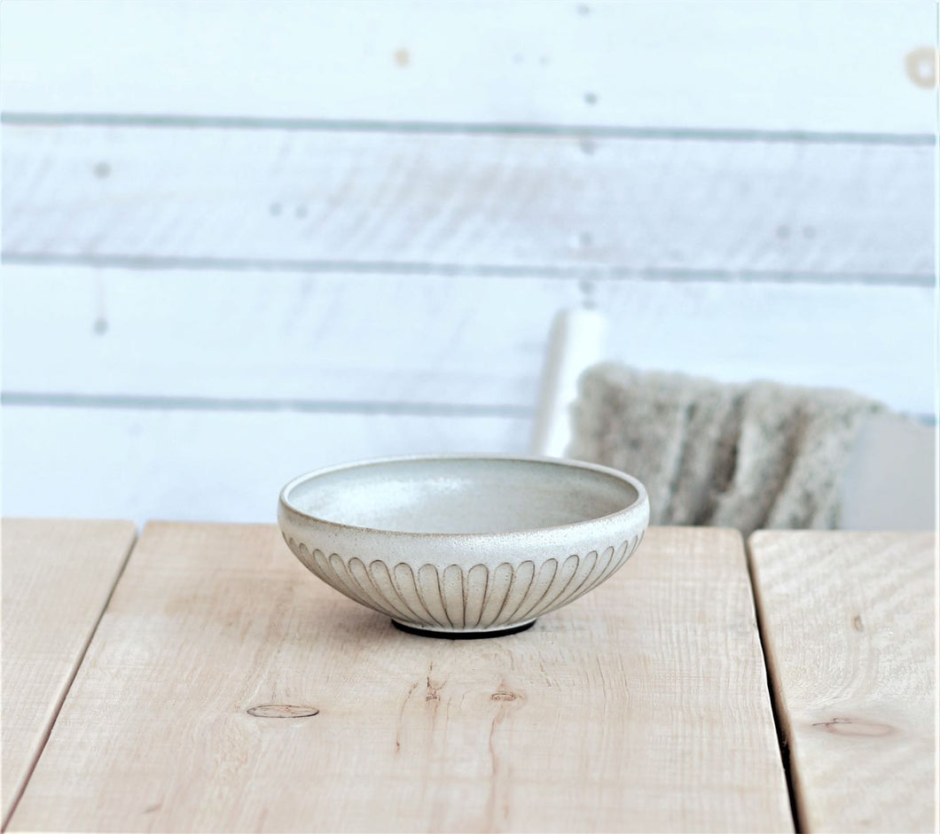 Poké bowl - small - white herringbone