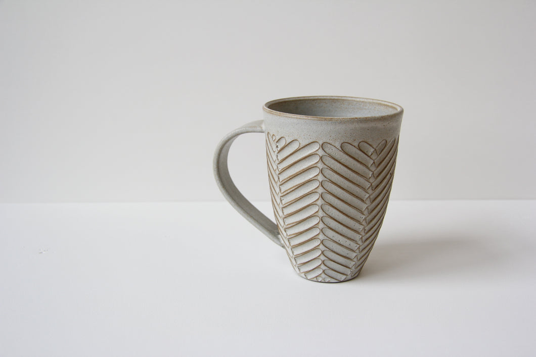 Large cup - chevron- gray