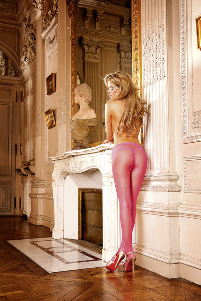 These Hot Pink Pantyhose with a semi-translucent mesh look will make you look both elegant and sexy.