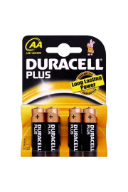 Duracell Plus Std Battery AA 4PK