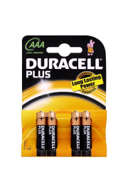 Duracell Plus Std Battery AAA 4PK