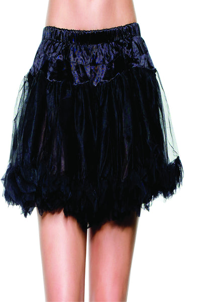 Multi-layer Black mesh petticoat with ruffle hem.