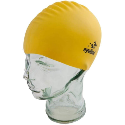 EYELINE JUNIOR SILICONE SWIM CAP BUTTERCUP SPORTSPOWER BUNDABERG