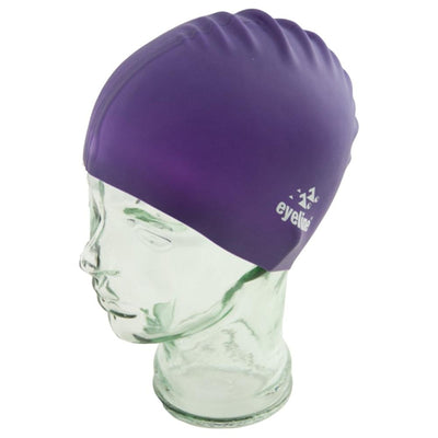 EYELINE JUNIOR SILICONE SWIM CAP PURPLE SPORTSPOWER BUNDABERG