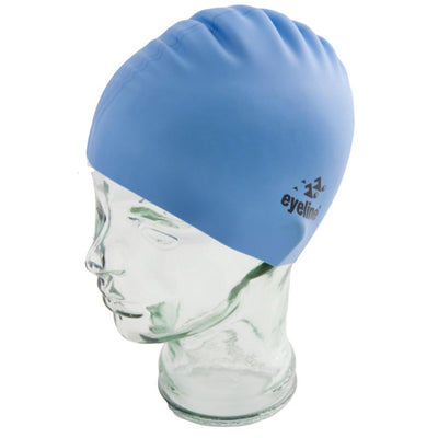 EYELINE JUNIOR SILICONE SWIMCAP POWDER BLUE SPORTSPOWER BUNDABERG