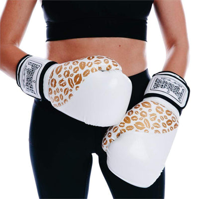 PUNCH URBAN 12OZ WHITE GOLD FEMALE BOXING GLOVE SPORTSPOWER BUNDABERG