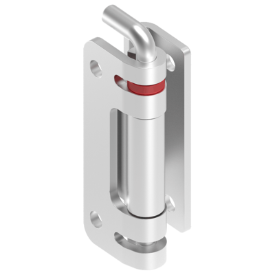 135° hinge with captive pin and 120° hinge