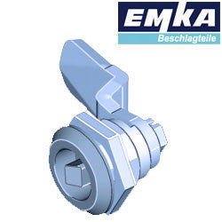 1000-U134-U135 EMKA Stainless Steel Quarter Turn with 7mm Square Insert