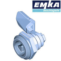 1000-U134-U334 - EMKA Stainless Steel Quarter Turn w- 8mm Triangular Insert and Foam-in-Place Gasket