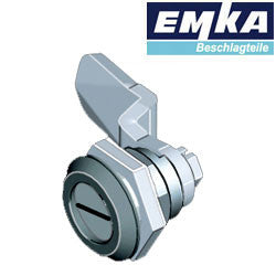 1000-U155-G-U196-N  - EMKA Black Polyamide Quarter Turn w- Slotted Insert and Foam-in-Place Gasket