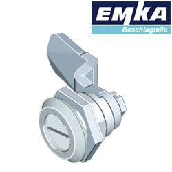 1000-U45-G-U142 - EMKA Chrome Quarter Turn w- Slotted Insert and Foam-in-Place Gasket