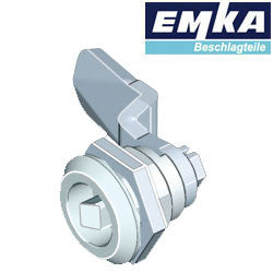 1000-U45-G-U1 - EMKA Chrome Quarter Turn w- 7mm Square Insert and Foam-in-Place Gasket