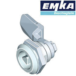 1000-U45-G-U4 - EMKA Chrome Quarter Turn w- 8mm Triangular Insert and Foam-in-Place Gasket