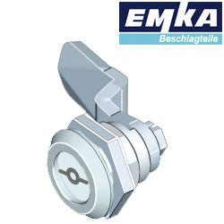 1000-U45-G-U6 - EMKA Chrome Quarter Turn w- 5mm Double Bit and Foam-in-Place Gasket