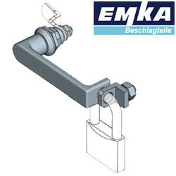 1000-U842 - EMKA L-Handle for padlock AISI 316