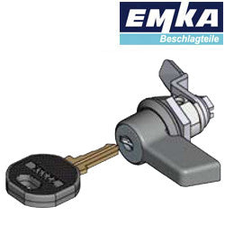 1022-U58-20 - EMKA 1022 Small Wing Knob Chrome Plated - 1-4in Grip Range - Keyed Different