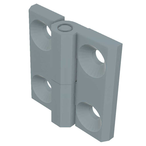 1056-U13 EMKA Screw-On Prominent Hinge with Countersunk Holes