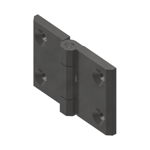 1056-U42 EMKA Screw-On Prominent Hinge with Countersunk
