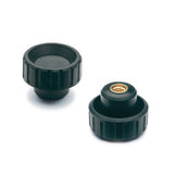 154321 - BT.25 B-M6-ESD-C - Elesa Fluted Grip Knob w/ Brass Threaded Boss M6