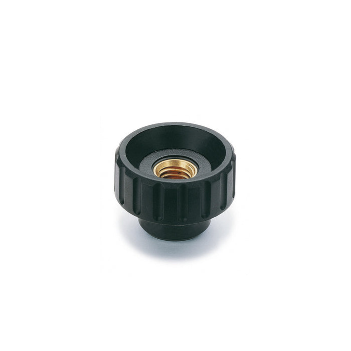 154232 - BT.20 FP-M6-ESD-C - Elesa Fluted Grip Knob w/ Tapped Through Hole Threaded M6