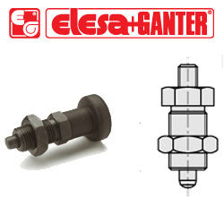 GN.35107 - GN 617-5-GK - Elesa Ganter Indexing Plunger without Knob, with Locking Nut - Threaded M10x1