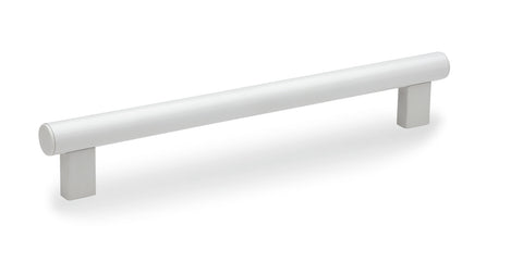 151501 - M.1066 BM/30-200 CLEAN - Elesa Clean Series - Aluminum Tubular Handle with White Epoxy Coating - Threaded M8
