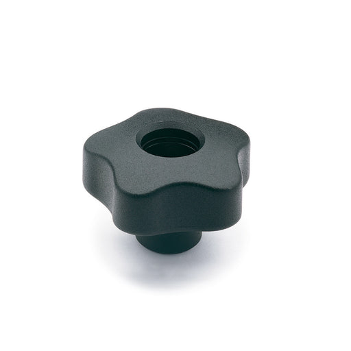 970018 VCT.63 FP-1/2-13  Elesa Lobe Knob w/ Tapped Through Hole Threaded 1/2-13