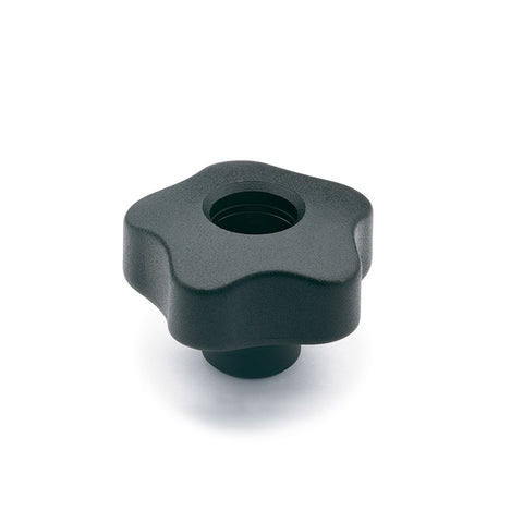 970067 - VCT.74 FP-1/2-13  - Elesa Lobe Knob w/ Tapped Through Hole Threaded 1/2-13
