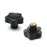 166111 - VC.692/25 B-M4 - Elesa Lobe Knobs Threaded M4