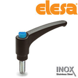 ERX.63-SST-p 5/16-18x5/8- C5 90235433-C5 Elesa Adjustable Handle with Stainless Steel Stud Threaded 5/16-18