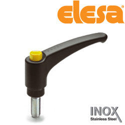 ERX.78-SST-p3/8-16x1-1/2 -C4 - 90235736-C4 - Elesa Adjustable Handle with Stainless Steel Stud Threaded 3/8-16