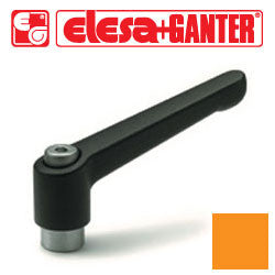 GN.16172 - GN 300-92-M12-OR - Elesa Ganter Orange Adjustable Handle - Threaded M12