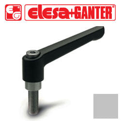 GN.16464 - GN 300-92-M12-80-GR - Elesa Ganter Gray Adjustable Handle - Threaded M12X80