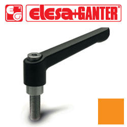 GN.16512 - GN 300-108-M16-80-OR - Elesa Ganter Orange Adjustable Handle - Threaded M16X80