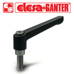 GN.16431 - GN 300-92-M12-40-SW - Elesa Ganter Black Adjustable Handle - Threaded M12X40