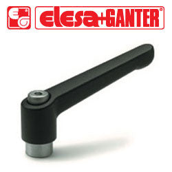 GN.15111 - GN 300.1-45-M6-SW - Elesa Ganter Black Adjustable Handle - Threaded M6