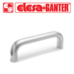 GN.27109 - GN 565-26-128-BL - Elesa Ganter Cabinet U-Handle - Natural Aluminum