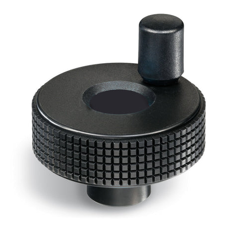 34798 - MBT.85+I-B10 - Elesa Diamond Cut Grip Knobs with Revolving Handle with 10mm Mounting Hole