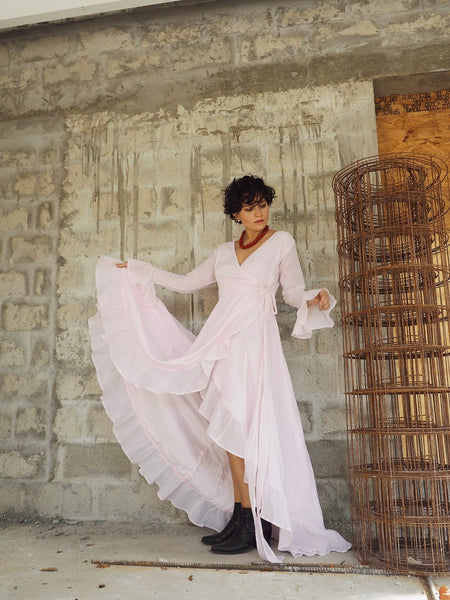 Aurora Organza  Maxi Dress (Blush)