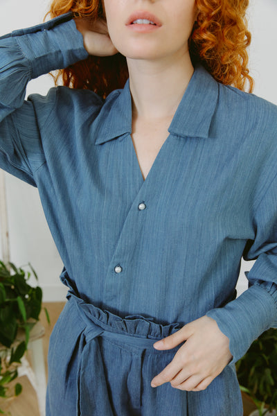 Pre-Order In Waiting Eco Denim Shirt With Pearl Buttons