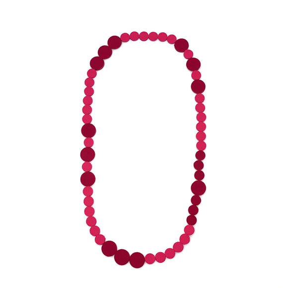Pink | Magenta Polka Dot Necklace