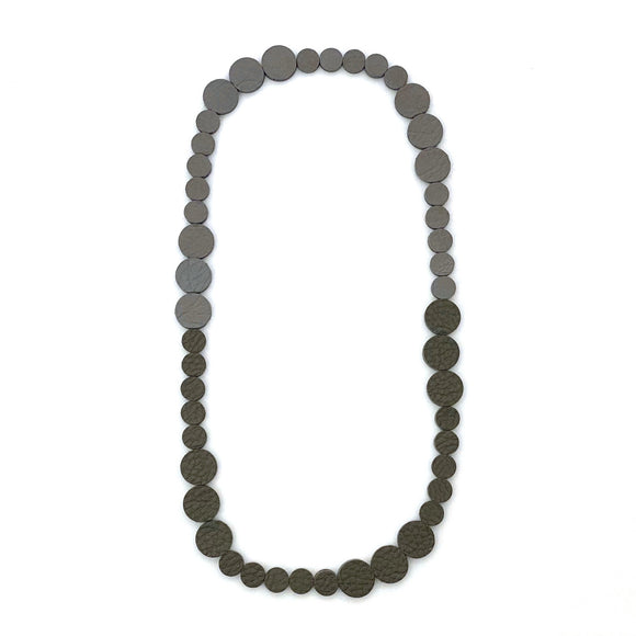Grey | Silver Polka Dot Necklace