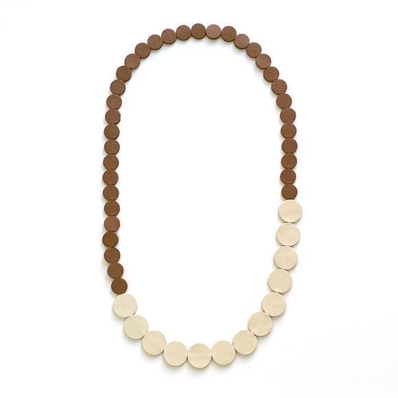 Camel | Ivory Polka Dot Necklace