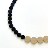 White | Black Polka Dot Necklace