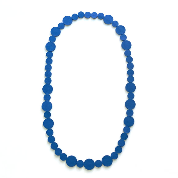 Sky Blue Polka Dot Necklace