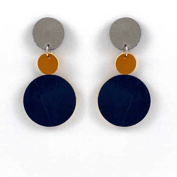 Tri Polka Dot Earrings II