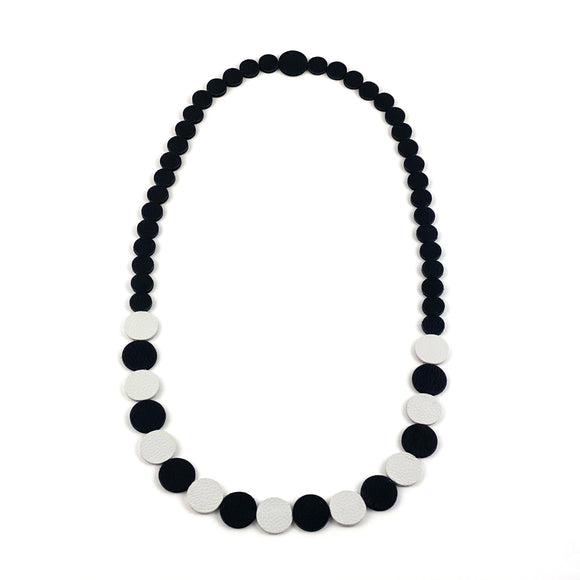 Black | White Polka Dot Necklace