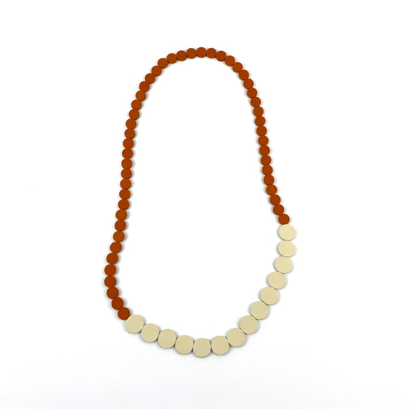Orange | Ivory Polka Dot Necklace