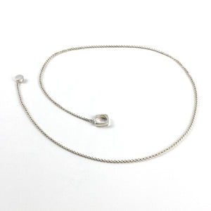 Ball & Chain Lariat Necklace - Sterling Silver